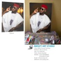 2face Idibia portrait painting by artist ayeola ayodeji