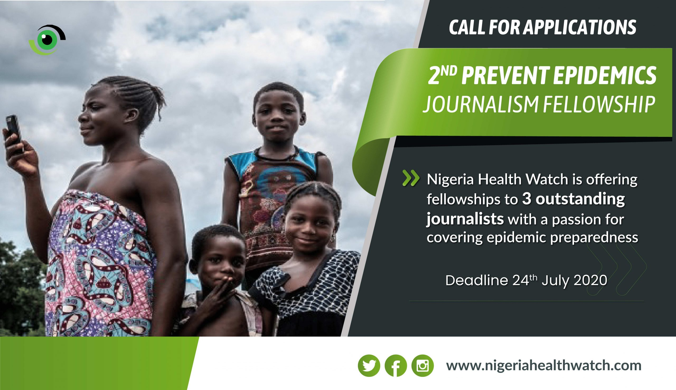 Call For Applications: 2nd Prevent Epidemics Journalism Fellowship - Nigeria Health Watch