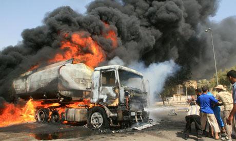 Diesel-laden tanker catches fire in Lagos