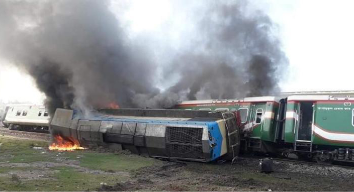 Train Derailment: Catches fire, 10 injured