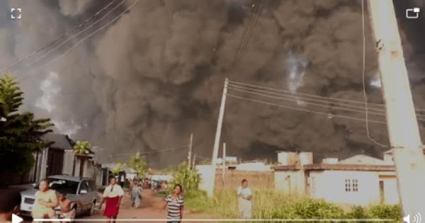 Diamond Estate/Idowu Egba ruptured pipeline spill petrol, explode in Lagos