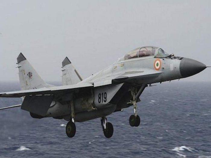 MiG-29K Fighter jet crashes