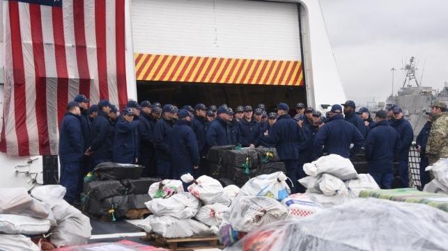 Cocaine: USCG Cutter Munro Offloads 20,000 Pounds worth $340 million