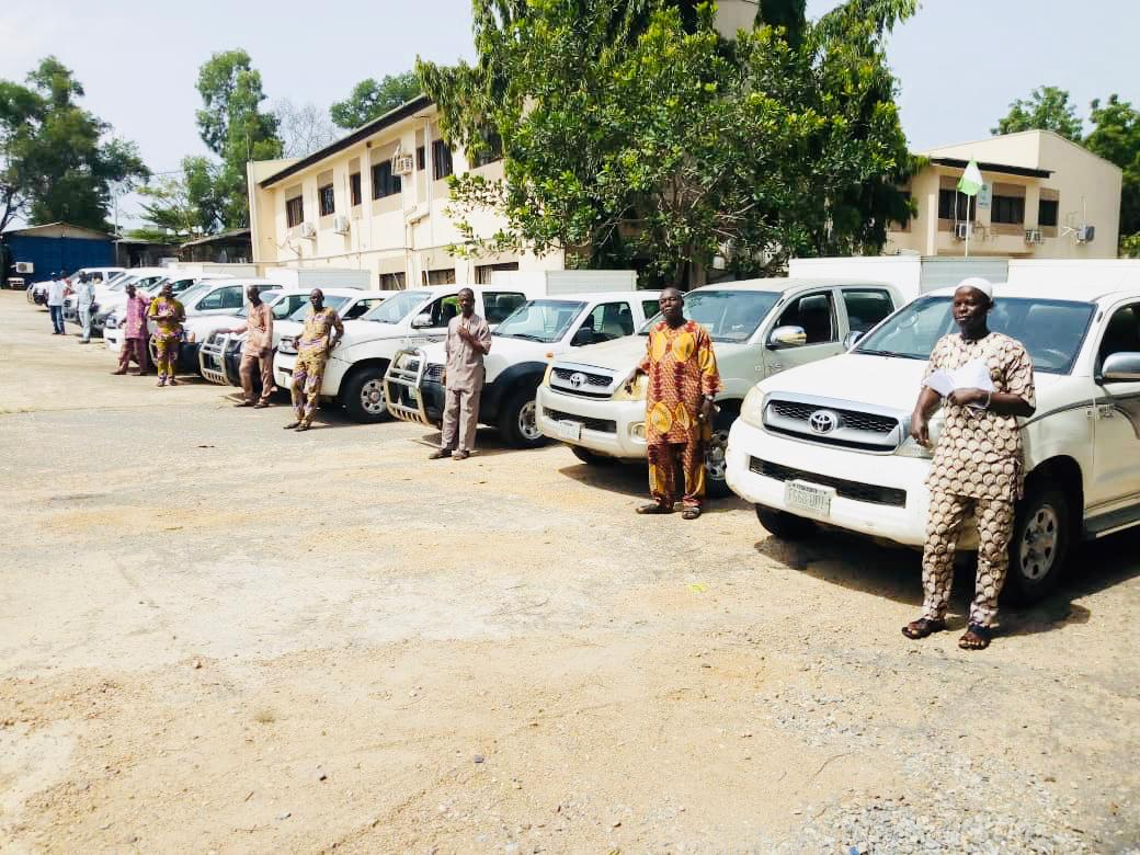 COVID-19: INEC Deploys 100 pickup vans to Presidential Task Force for contact tracing
