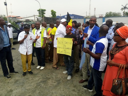 Aviation Union protests workers sack at Bristow Helicopters