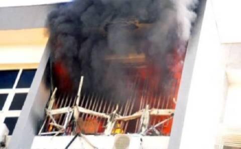 Nigerian Immigration headquarters razed by fire