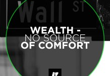 Wealth - No Source of Comfort