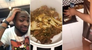 Davido Shares Intimate Video Of His Girlfriend, Chioma Cooking Okro Soup For Him At Home (Video)