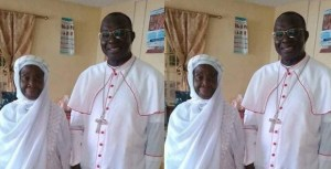 Photo of a Catholic Priest and his Muslim Mother Goes Viral