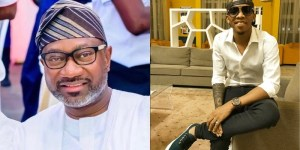 Femi Otedola Calls Tekno His Son As They Share Adorable Photo Together