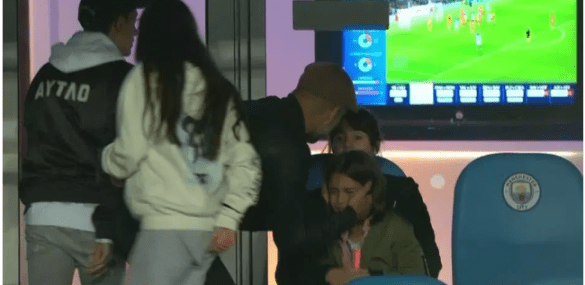 Guardiola's Daughter Weeps After Man City's Champions League Loss As Her Father Consoles Her.