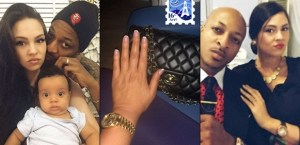 IK Ogbonna's Wife, Flaunts Ringless Finger, Seemingly Confirms Break-up