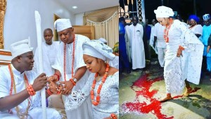 Ooni Of Ife's Queen Naomi Oluwaseyi Did Not Step On Blood