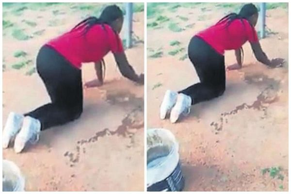 A Wife Punished Her Husbands Lover By Forcing The Side Chick To Do House Chores After She Caught Them Together In Her House