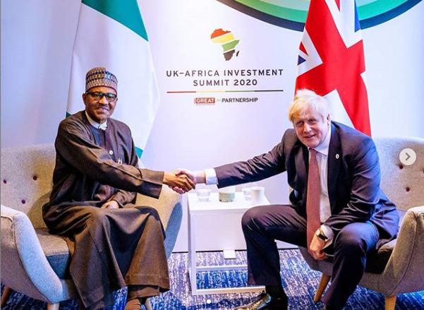 Buhari and Boris Johnson