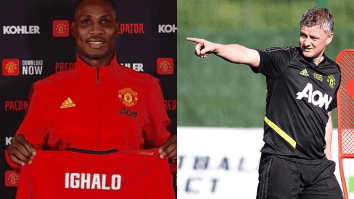 Odion Ighalo and Ole Gunnar Solskjaer