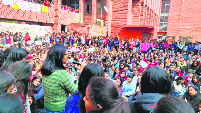Indian Students Protest