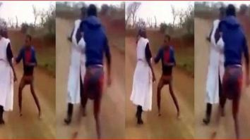 lady beats her mother, lady beats her mother video