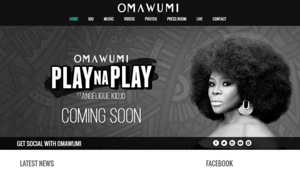 Why Every Entertainer Needs A Website - Citing Singer Omawumi as having the right idea