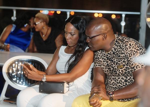 Linda Ikeji with 1206 designer Gabby