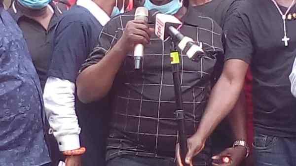 Mr.Nnaji Chairman of Nigerian Union of Traders Ghana