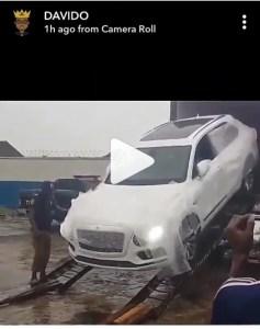 Davido Bentley Bentyaga Which Costs 94 Million Naira Arrives Nigeria