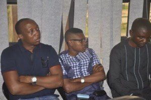 Chibuzor Aguwa and other members of OMPAN in Abia State government house