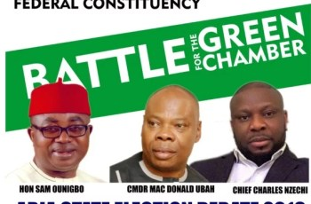 ABIA DEBATE 2019: Hon. Onuigbo, Nzechi, and MacDonald Set To Face Each Other For Ikwuano/Umuahia Debate
