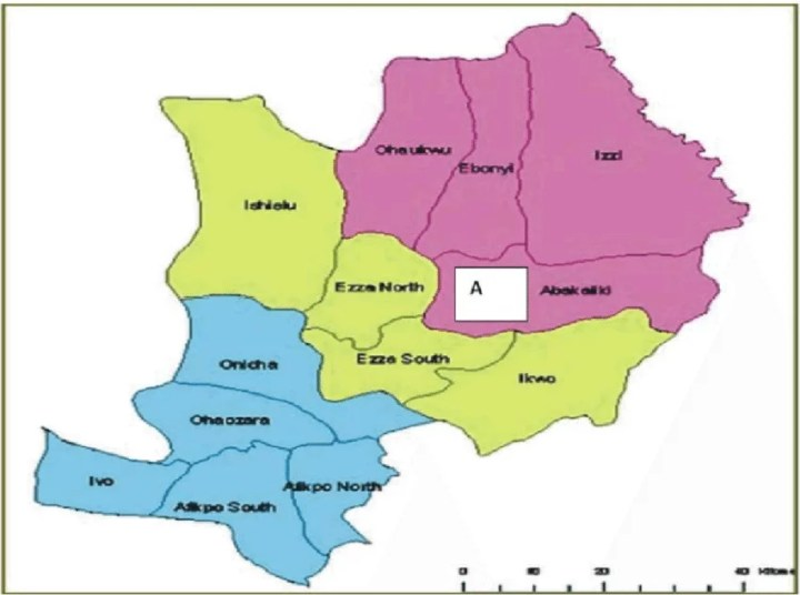 Map of Ebonyi State with details