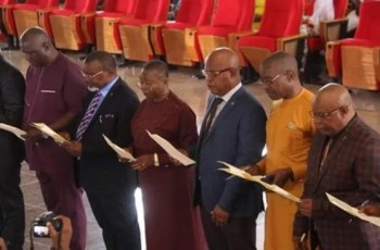 Newly Sworn-in Commissioners in Abia State and Their Portfolios