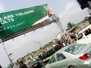 Billboard of ex Governor of Imo state, Emeka Ihedioha