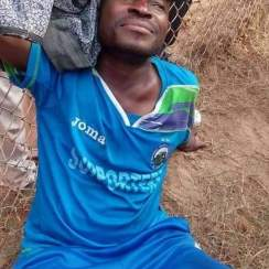 Injured player of Enyimba FC during the clash