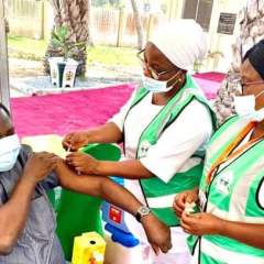 Femi Adesina Receives First Dose of COVID-19 Astrazeneca Vaccine Today in Abuja