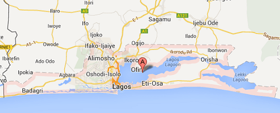 map of lagos state