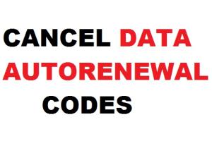 how to cancel autonatic data renewal