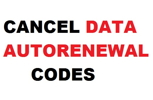 how to cancel autonatic data renewal