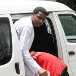 Managing director of the Nigeria Airspace Management Agency (NAMA) Ibrahim Abdulsalam coming out from the Economic and Financial Crimes Commission (EFCC) vehicle at the Federal High Court in Ikoyi, Lagos.