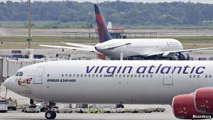 A Delta and Virgin Atlantic aircraft