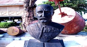 Lord Lugard statue at old residence Lokoja
