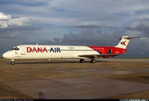 Dana Air McDonnel Douglas MD-80 (DC9-80) Registration 5N-DEV. Copyright of Airliners.net