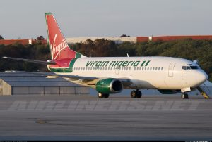 Virgin Nigeria Airways Boeing 737-300 with registration 5N-VNF