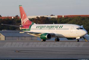 Virgin Nigeria Airways Boeing 737-300 with registration 5N-VNF
