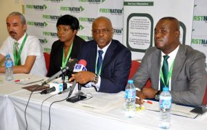 From left, Maintenance Manager, Firstnation Airways, Engr. Ferudun Ozdemir, Deputy Cabin Services, Mrs. Barbara Dan-Asemah and Director, Flight Operation, Capt. Chimara Imediegwu and Training Coordinator, Victor Udoyoh at a Media chat with Journalist yesterday in Lagos.