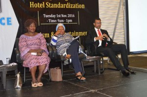 L-R: Aketch Dorcas, Aviation Consultant, Fatimah Garbati, Fmr. President NATOP,  Capt. Dapo Olumide, Fmr MD Virgin