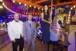 Captain Gus Anderson, Michael Bailey, president and CEO Royal Caribbean International and Brittany Affolter.