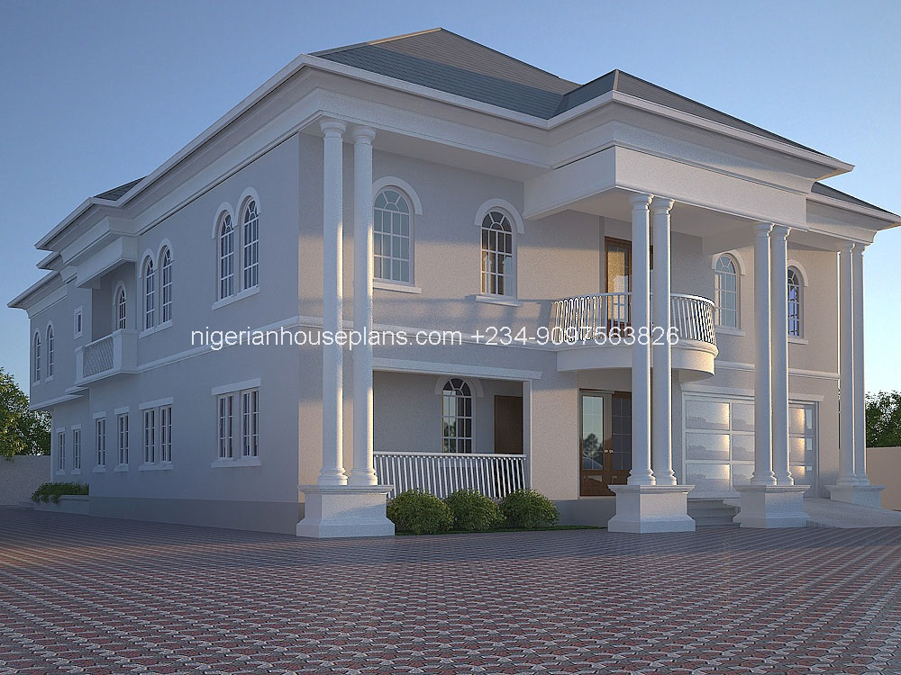 6 bedroom duplex house plans in nigeria for Nigeria house design plans