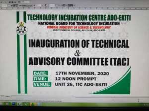 #Technology #Incubation Centre, #Ado-Ekiti has inaugurated its #Technical and Advisory #Committee (#TAC).