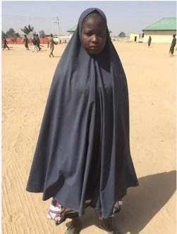 Suicide Bomber . Boko Haram. Bomb . The arrested female suicide bomber, Fatima Babagapchia.