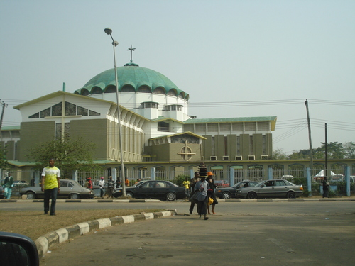 The Maria Assumpta Cathedral in Owerri should be named the Maria Assumta mosque if the dome is really associated to Islam