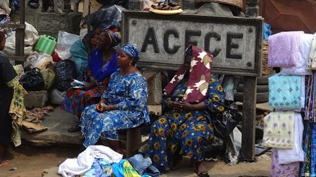 Traders at Agege station in Lagos